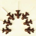 飛行機のロリポップチョコレート