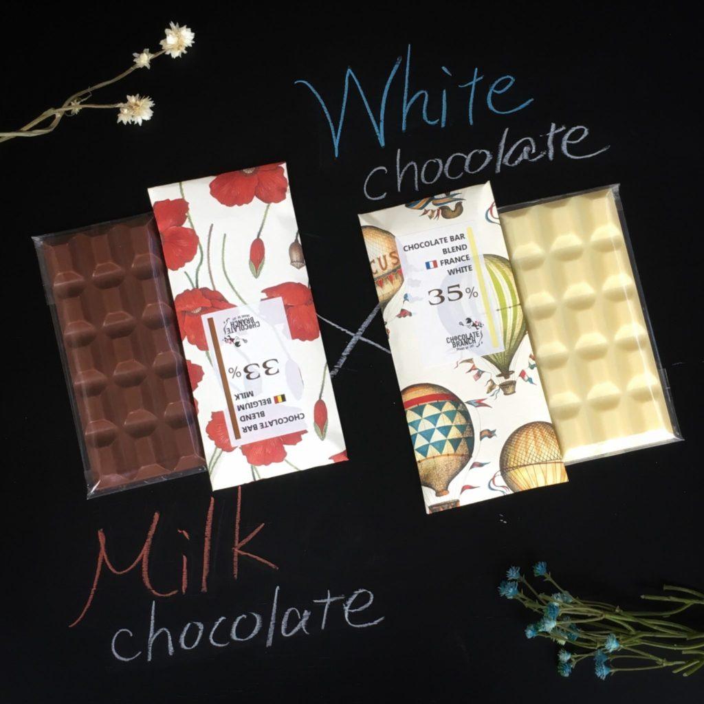 ミルクチョコレート ホワイトチョコレート 板チョコレート